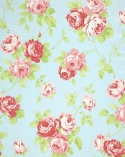 Tanya Whelan Cottage Chic & Shabby Cotton Fabric Lulu Roses Lulu PWTW092-Sky BTY