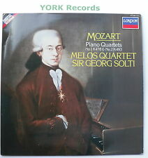 417 190-1 - MOZART - Piano Quartets No 1 & 2 SOLTO Melos Quartet - Ex LP Record