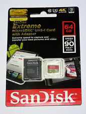 Sandisk 64G Micro Extreme 4K HD SD card for GoPro Hero4 Hero Session Hero3+ 3
