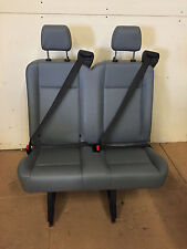2015 Ford Transit Van 2 Person Bench Seat Gray Vinil INV#7 with Brackets w/Cut