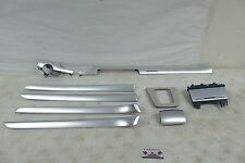 OEM 2005 2008 AUDI A4 Complete Aluminum Dash Door Panel Ash Tray Trim Bezel Set