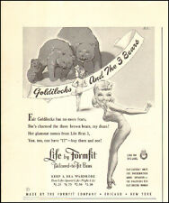 1942 Vintage ad for Life by Formfit`Bras`Sexy Pin-up Model WWII era (021716)
