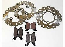 2004 2005 HONDA TRX450R TRX 450 R FRONT AND REAR BRAKE PADS AND SPORT ROTORS