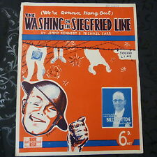 song sheet THE WASHING ON THE SIEGFRIED LINE Billy Cotton 1939