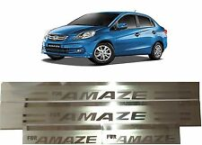 Premium Stainless Steel Door Sill Scuff Plates Footstep New Honda Amaze