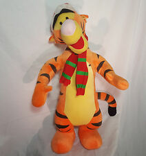 Tigger Christmas Door Greeter Winnie the Pooh Disney Santa Hat 28in Plush Stand