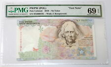 2010 Test Note Poland PWPW PMG 69 EPQ Superb Gem UNC