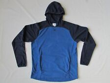 adidas blue fleece hoodie pullover sweatshirt thumb holes kangaroo pockets L