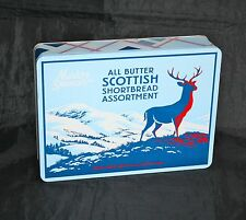 MARKS & SPENCER SCOTTISH SHORTBREAD TIN STAG DEER SCOTTISH HIGHLANDS SCENE