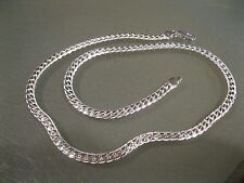 "5MM 925 Solid Sterling Silver Necklace Chain 20"" inch Fashion Men Women"