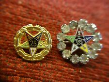 TWO VINTAGE EASTERN STAR PINS FOR YOUR COLLECTION - HAVE A LOOK