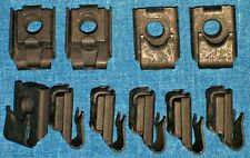 "►10 NOS AUVECO OLD U-NUTS 1930s 30s FENDER, MOLDING TRIM NUT 1/4""-28 Fine THREAD"