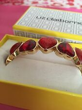 Liz Claiborne Red Heart Bangle Bracelet Gift Box To Say Love You