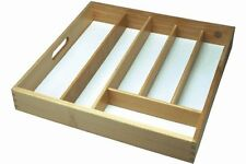 Large Wooden Cutlery Tray Drawer Storing Kitchen Cutlery Beechwood