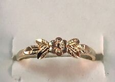 14k Yellow Gold Black Hills Gold Rose Toe Ring