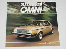NOS 1983 Dodge Omni Color Car Automobile Brochure MINT Condition