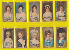 PEOPLE - R.J. LEA  LTD. -  RARE SET OF 50 CHAIRMAN MINIATURES GILT BORDER CARDS