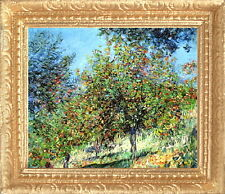 MONET -1878 APPLE TREES ON HILL Dollhouse Picture Miniature Art -MADE IN AMERICA