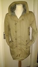 TopMan Parka Hooded Coat Mods Skins Scooter Mens Size L Khaki Cooool!