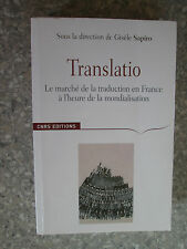 Translatio : Le marché de la traduction en France à l'heure de la mondialisation