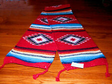 """Table Runner Handwoven Wool 10x80"""" Southwestern Native American Design #1A"""