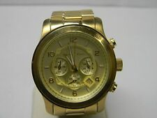 Michael Kors Unisex Oversized Runway Gold-Tone Stainless Steel Bracelet MK8077