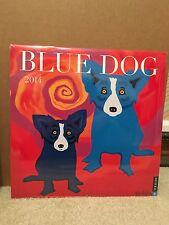 2014 BLUE DOG WALL CALENDAR WITH IMAGES BY GEORGE RODRIGUE