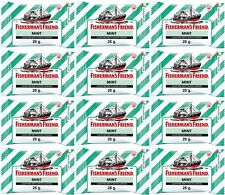 FISHERMAN'S FRIEND Sugar Free Mint Flavour Lozenges 25 g. (12 packs/set) New