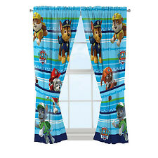 "Paw Patrol Curtain Window Drapery Set Dog Puppy Cute Boys Kid's Bedroom, 41""x63"""