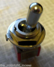 "Guitar toggle switch  ON/ON/ON  Fat bat toggle  1/2"" hole C&K 7211 HIGH QUALITY"