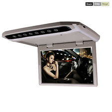 Car Roof Flip Down Overhead MP4 MP5 Video Player 10 Inch HD LED Monitor Grey