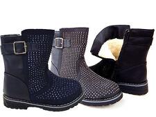 Kinder Schuhe Kinderschuhe Stiefel Boots Mädchen Grau Gr 31 gefüttert Zipper