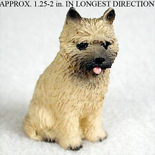 Cairn Terrier Mini Resin Hand Painted Dog Figurine Statue Red