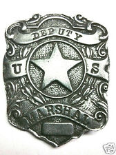 """DEPUTY US MARSHAL SHIELD OLD WEST BADGE 1"""" Hat Pin Made In USA! Obsolete 02"""