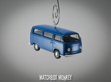Blue Volkswagen Bay Window T1 Type 2 Bus Christmas Ornament VW Van Kombi Bulli