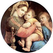 Incorniciato stampa Raffaello-Madonna della Seggiola (Picture PITTORE ARTISTA ITALIANO)
