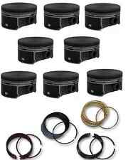GM CHEVY LS LS2 LQ4 LQ9 6.0L 02-08 FLAT TOP PISTONS & RINGS SET 4.00 BORE SIZE
