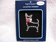 REGENT SQUARE Collectible Ornament CHIHUAHUA DOG - PET SILHOUETTE in Crystals