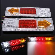 2X 12V LED TRUCK TRAILER CARAVAN VAN REAR TAIL STOP REVERSE INDICATOR LIGHT LAMP