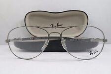 Ray-Ban RB 8403 2620 Silver/Carbon Fiber New Authentic Eyeglasses 56mm w/Case
