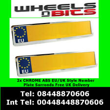 2X CHROME NUMBER PLATE HOLDER SURROUND FOR MERCEDES VITO SPRINTER A C E S CLASS