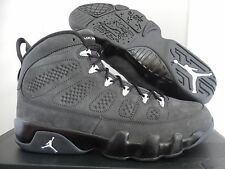NIKE AIR JORDAN 9 RETRO ANTHRACITE-BLACK-WHITE-BLACK SZ 9.5 [302370-013]