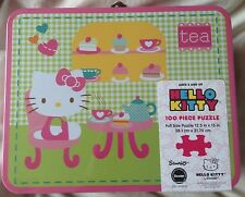 Hello Kitty 100 Piece Puzzle Inside Lunch Box Tin