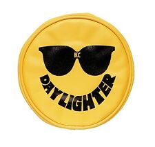 KC Hilites 5205 Light Cover  6 in. Round Black on Yellow Vinyl  Daylighter