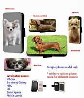 Dachshund Maltese Chihuahua dog leather phone case Samsung,Iphone,HTC,SonyXperia