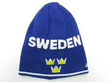 TEAM SWEDEN 2016 WORLD CUP OF HOCKEY ADIDAS BLUE BEANIE TOQUE HAT