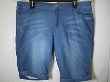 Juicy Couture Stretch Denim Style FrenchTerry Cuffed  Shorts Size 14 MSRP $44