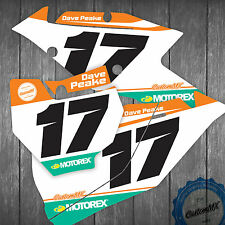 KTM NUMBER PANEL GRAPHICS BACKGROUNDS 85 125 150 250 300 450 MOTOCROSS ENDURO