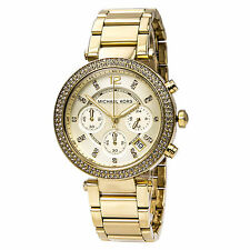 Michael Kors MK5354 Women's Parker Gold Tone Steel Chrono Watch