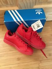 Adidas Stan Smith Adicolor Trainers Size 3.5 BNIB Red